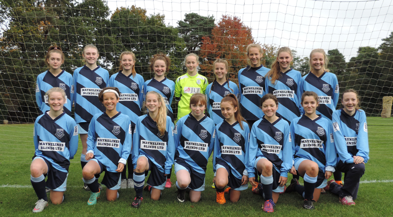 Maynelines Blinds Sponsor Fleet Town Girls FC 2016 web