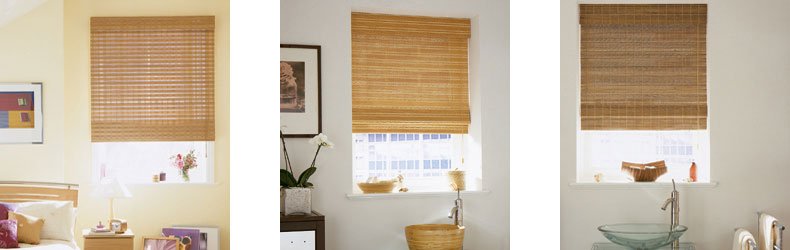 Wood Weave Blinds by Maynelines Blinds in Fleet Hampshire