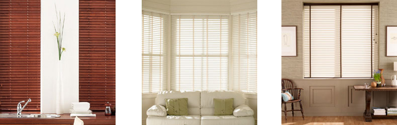 Wooden Venetian Blinds by Maynelines Blinds in Fleet Hampshire